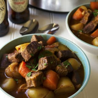 Slow Cooker Guinness Irish Stew | Slow Cooker Guinness Irish Stew is the perfect comfort food to celebrate St. Patrick's Day or any day with family and friends. | Pack Momma | http://www.awickedwhisk.com