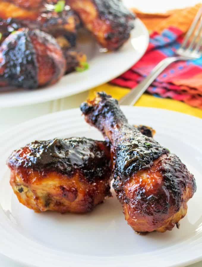 Grilled Spicy Orange Chicken legs