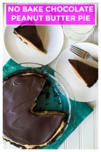 No Bake Chocolate Peanut Butter Pie is an easy, no bake dessert that perfectly combines decadent rich chocolate and light fluffy peanut butter filling. Super easy and quick to make, thisNo Bake Chocolate Peanut Butter Pie is the perfect no bake dessert to satisfy your sweet tooth cravings. | A Wicked Whisk | https://www.awickedwhisk.com #peanutbutterpie #chocolatepeanutbutterpie #nobakepie #nobakedessert #nobakechocolatepeanutbutterpie
