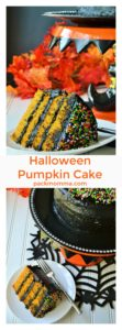 Halloween Pumpkin Cake | Halloween Pumpkin Cake is the moistest and most delicious cake you will make this season! Perfect dessert to satisfy your pumpkin craving this time of year. | A Wicked Whisk | https://www.awickedwhisk.com #halloween #halloweenfood #halloweencake #halloweendessert #halloweensweet #pumpkin #pumpkincake #pumpkindessert #blackfrosting