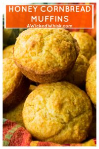 Honey Cornbread Muffins are super easy and super fast to make.  Tender, sweet corn muffins  made with a touch of honey, these Honey Cornbread Muffins are the perfect complement to any of your favorite meals. #honeycornbread #honeycornbreadmuffins #cornbread #cornbreadmuffins #sweetcornbread #cornbreadmuffinsrecipe #cornbreadmuffinseasy #mexicanfood #mexicancornbread #moistcornbread