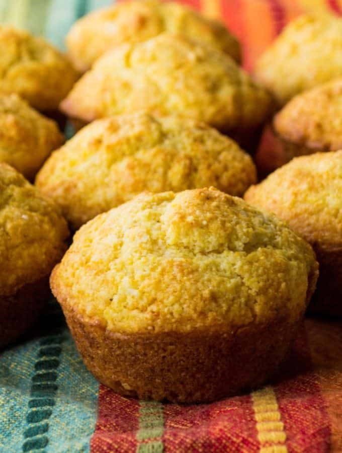 Honey Cornbread Muffins | These Honey Cornbread Muffins are super easy and super fast to make. They are moist and rich and the perfect complement to any of your favorite meals. | Pack Momma | https://www.awickedwhisk.com
