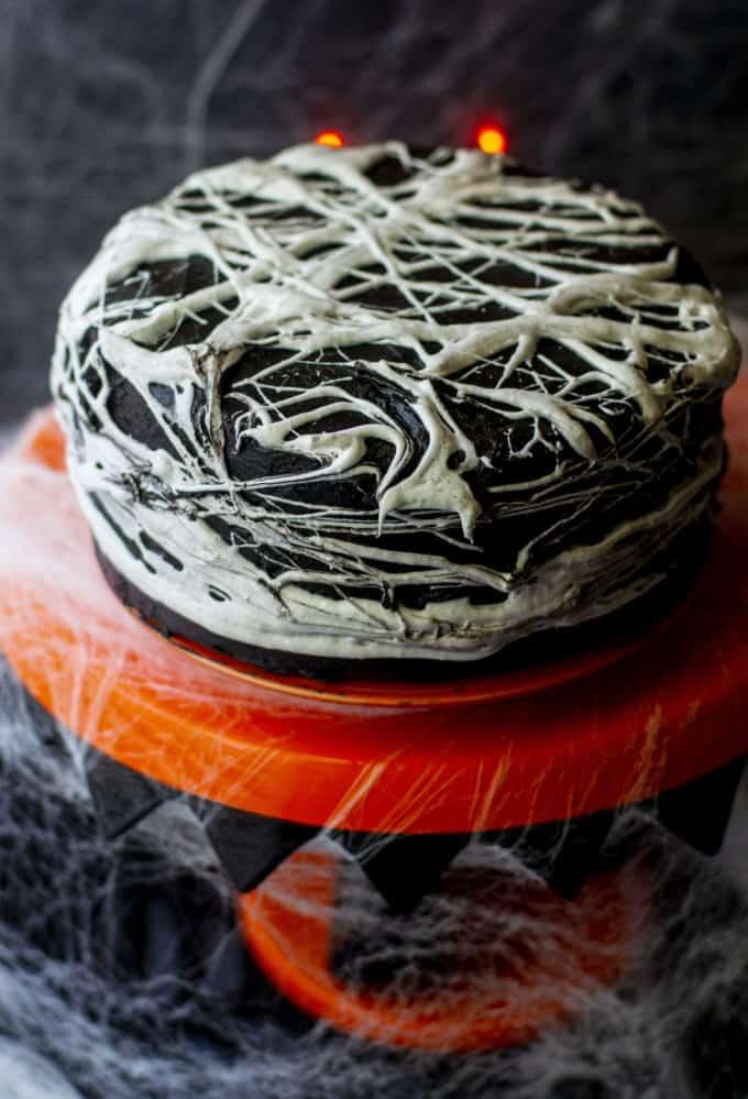 Halloween Spiderweb Cake