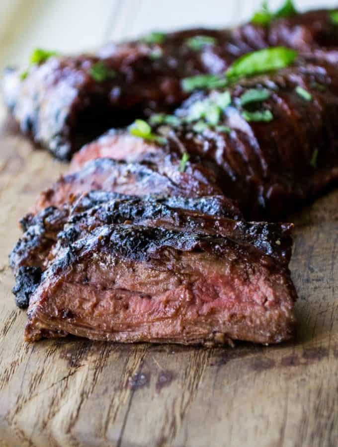 Cherry Habanero BBQ Flank Steak
