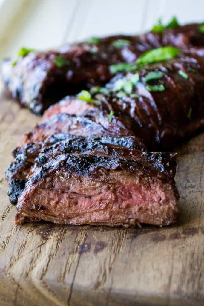 Cherry Habanero BBQ Flank Steak