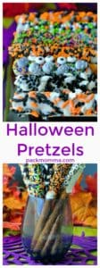Halloween Pretzels | Halloween Pretzels are easy, delicious and such a fun and festive idea for a quick Halloween treat! This salty sweet snack will be the hit of Halloween! | A Wicked Whisk | https://www.awickedwhisk.com #halloweenfood #halloweentreats #halloweenpretzels #halloweensnacks