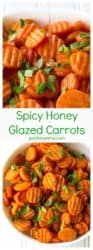 Spicy Honey Glazed Carrots | Spicy Honey Glazed Carrots are sweet with just a hint of spicy and they make the perfect accompaniment to any meal. Talk about the perfect side dish! | A Wicked Whisk | https://www.awickedwhisk.com #sidedish #sides #eastersides #eastersidedish #vegetables #honeycarrots
