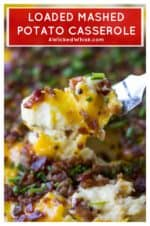 Loaded Mashed Potato Casserole | Loaded Mashed Potato Casserole is an upgraded version of your favorite potato recipe. Smothered in melted cheese and BACON, this is the best side dish ever! #mashedpotatoes #loadedmashedpotatoes #mashedpotatocasserole #loadedmashedpotatocasserole #thanksgivingsidedish #christmassidedish #easypotatosidedish #cheesypotatosidedish #loadedpotatoes #potatosidedish