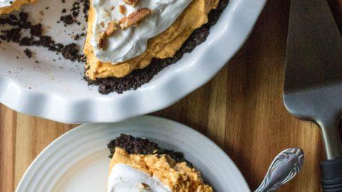 No Bake Pumpkin Chesesecake Pie