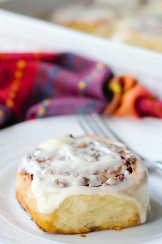 Pecan Rolls on a white plate