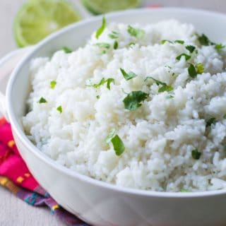 Chipotle Cilantro Lime Rice in a bowl