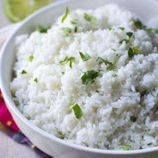 Chipotle Cilantro Lime Rice in a bowl