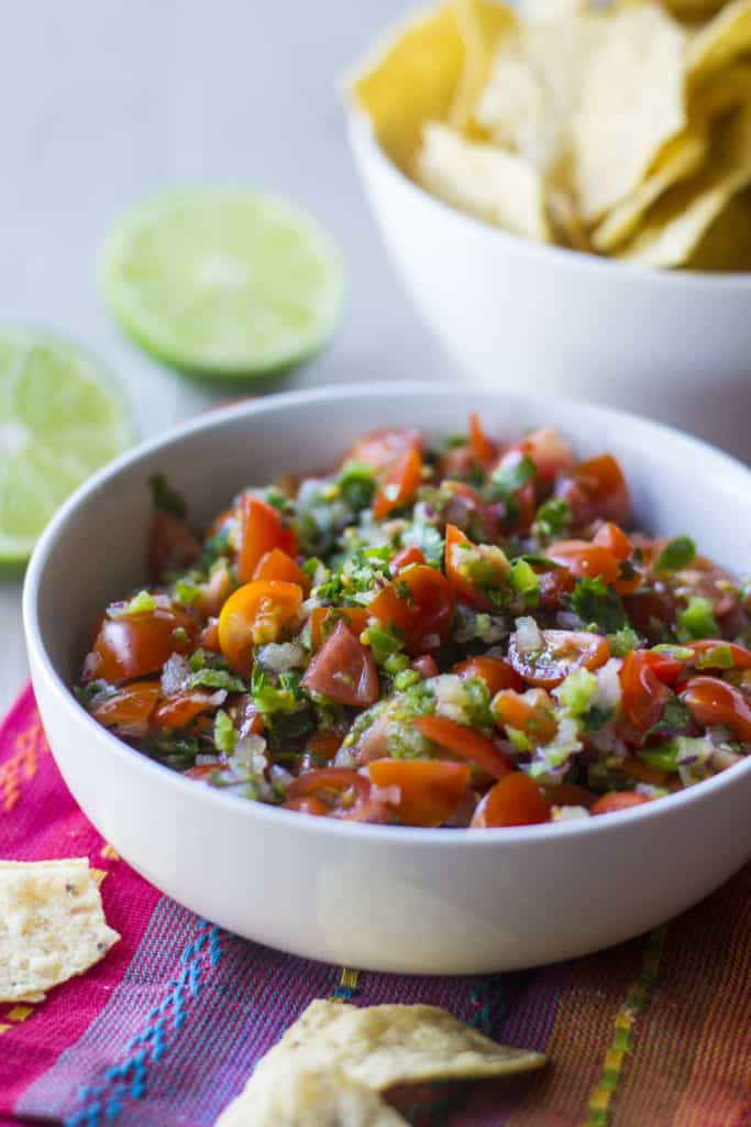 Chipotle Tomato Salsa in a bowl