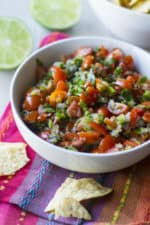 Chipotle Tomato Salsa in a white bowl