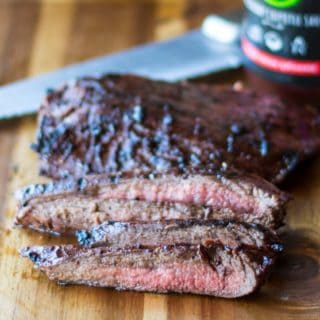 Grilled Flank Steak with Blackberry Chipotle Sauce