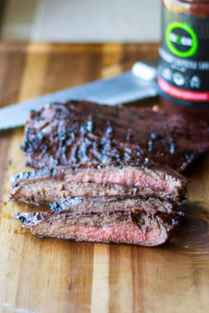 BBQ Flank Steak with Blackberry Chipotle Sauce