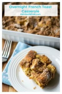 Overnight French Toast Casserole is the perfect breakfast casserole to prepare the night before to serve up to a hungry household. Ideal for holiday mornings, this Overnight French Toast Casserole will take all the stress out of breakfast and brunch with family and friends. | A Wicked Whisk | https://www.awickedwhisk.com #frenchtoast #frenchtoastrecipe #frenchtoastcasserole #breakfastcasserole #overnightbreakfastcasserole #easterbreakfast #thanksgivingbreakfast #mothersdaybreakfast #christmasbreakfast #brunchidea #brunchrecipe #frenchtoastbake