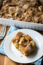 Overnight French Toast Casserole on a plate