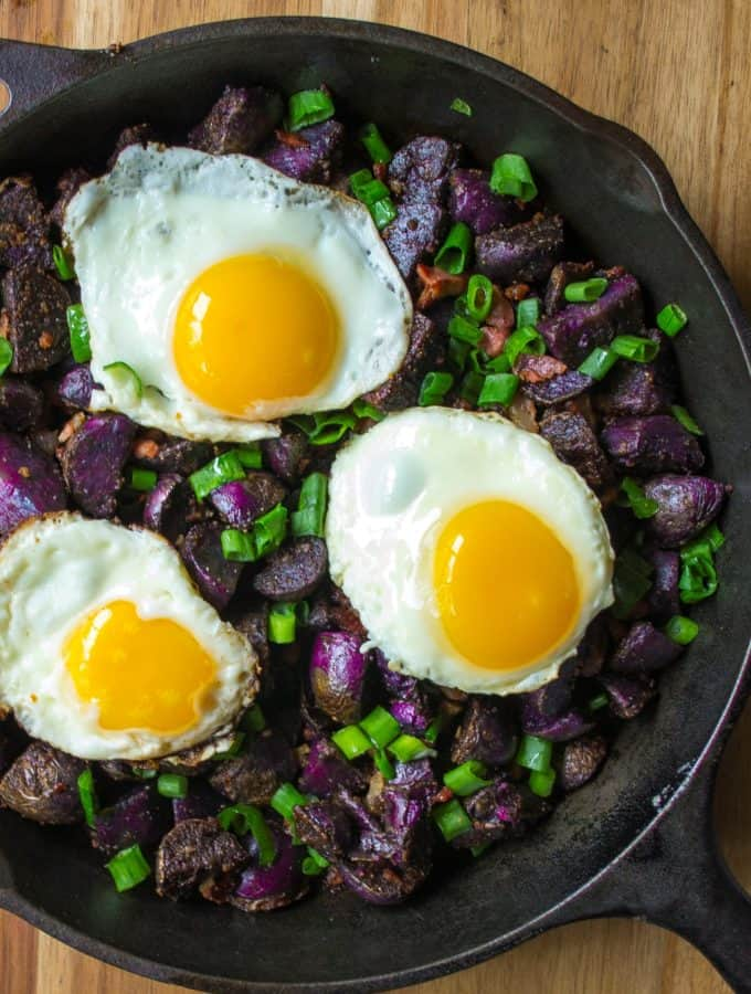 Purple Potato Breakfast Skillet