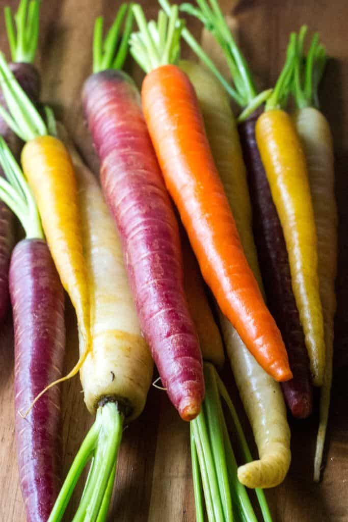 Roasted Honey Carrots - rainbow