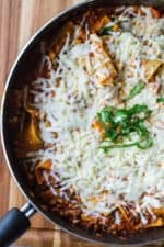 One Pot Lasagna Skillet in a skillet