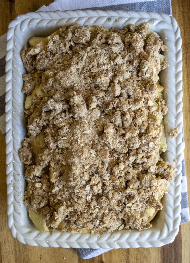 crisp topping over apples