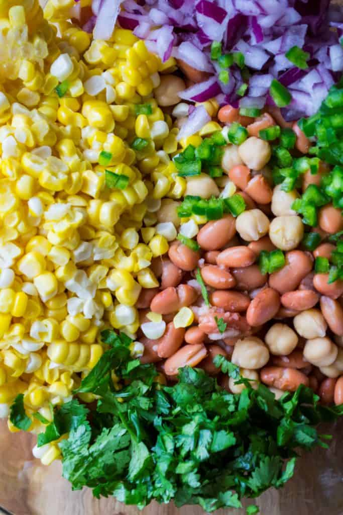 Easy Bean Salad ingredients