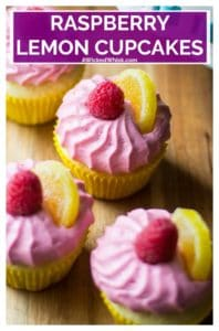 Raspberry Lemon Cupcakes are delicious and whimsical and are a perfect treat for any occasion. Delicate lemon cupcakes made from scratch with fresh raspberry buttercream frosting, these Raspberry Lemon Cupcakes are the ultimate sweet treat. | A Wicked Whisk | raspberrylemoncupcakes #raspberrylemoncupcakeseasy #lemoncupcakesfromscratch #raspberrylemoncupcakesrecipe #lemoncupcakes #raspberrybuttercreamfrosting #springcupcakes #springcupcakesflavor