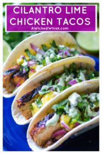 Cilantro Lime Chicken Tacos are a spicy, delicious and healthy quick dinner that are perfect for busy weeknights or weekend grilling. Easy to make, theseCilantro Lime Chicken Tacos will be your new favorite Go-To easy chicken meal. #cilantrolimechicken #cilantrolimechickenwraps #cilantrolimechickentaco #easychickendinner #spicychicken #cilantrolimemarinade #chickentaco #tacotuesday #taco
