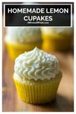 Lemon Cupcakes with Lemon Buttercream Frosting is the only lemon cupcakes recipe you will ever need!  Made with fresh lemon juice and tons of flavor, these moist lemon cupcakes are zingy, refreshing, bursting with lemon flavor and topped with lemon buttercream frosting. #lemoncupcakes #lemoncupcakesfromscratch #lemoncupcakesrecipe #lemoncupcakesrecipemoist #lemonbuttercreamfrosting #homemadelemoncupcakerecipe #homemadelemoncupcakerecipe