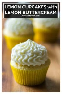 Lemon Cupcakes with Lemon Buttercream Frosting is the ultimate way to kick up boring ol' desserts. Made with fresh lemon juice and tons of flavor, these homemade Lemon Cupcakes with Lemon Buttercream Frosting are zingy, refreshing and the best super moist lemon cupcakes you will ever eat! | A Wicked Whisk #lemoncupcakes #lemoncupcakesfromscratch #lemoncupcakeseasy #moistlemoncupcakes #lemonbuttercreamfrosting #lemoncupcakeswithlemonbuttercream #springcupcakes