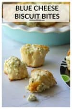 Blue Cheese Bites are the perfect quick and easy blue cheese appetizer that's made with only THREE INGREDIENTS! Using flaky canned biscuits, blue cheese crumbles and butter, these Blue Cheese Bites are a blue cheese lovers dream! | A Wicked Whisk #bluecheesebiscuitbites #bluecheesebites #bluecheesebiscuitappetizer #bluecheesebitesappetizers #bluecheeseappetizers #bluecheeseappetizerssimple #bluecheesepullapartbread #awickedwhisk