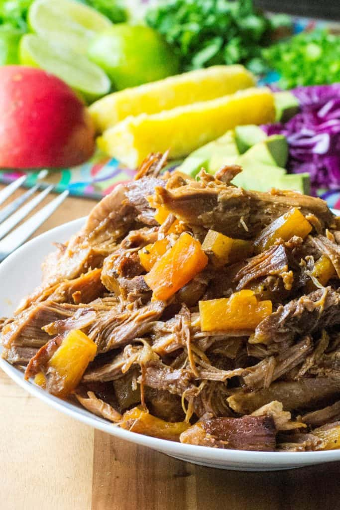 Hawaiian Pork Rice Bowl pulled pork