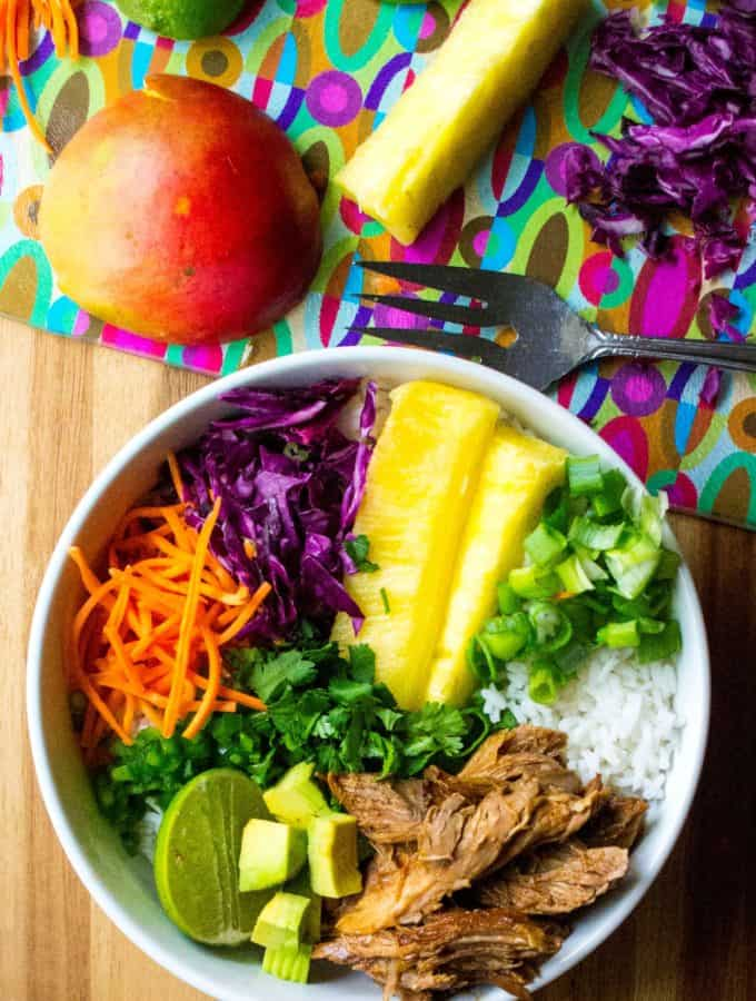 Hawaiian Pork Rice Bowl