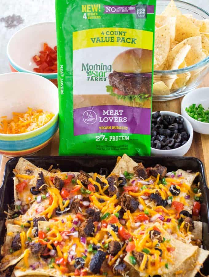 Grilled Fully Loaded Veggie Nachos
