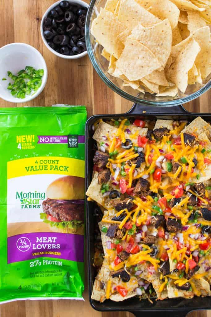 Take your tailgating fun to the next level with these Grilled Fully Loaded Veggie Nachos
