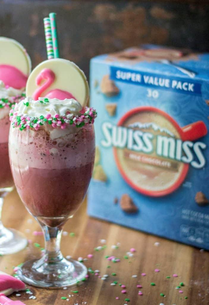 This Pink Velvet Frozen Hot Chocolate Recipe