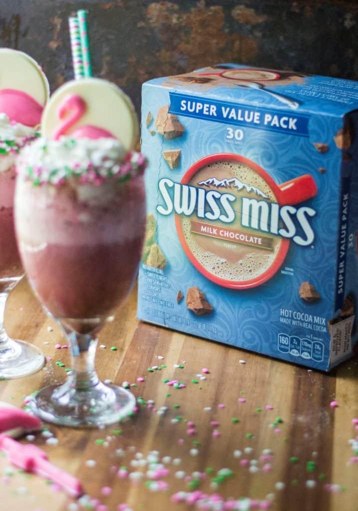 Pink Velvet Frozen Hot Chocolate