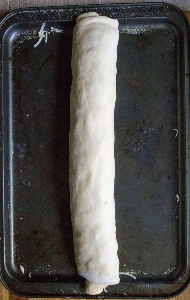 Pepperoni Stromboli Ring rolled stromboli