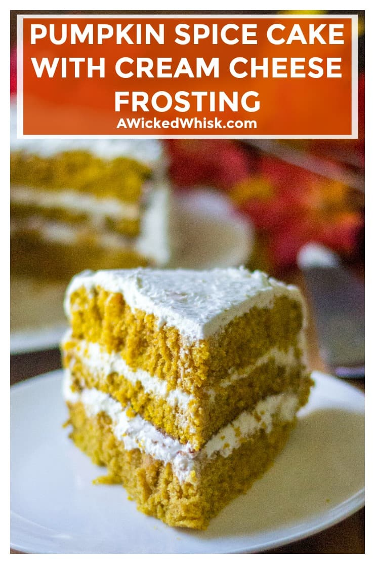 Pumpkin Spice Cake with Cream Cheese Frosting is the most perfect moist pumpkin cake recipe you will ever make and an easy pumpkin dessert to serve up anytime of the year! #pumpkin #pumpkindessert #pumpkincake #pumpkinspicecake #easypumpkindessert #pumpkinlayercake #pumpkincakecreamcheesefrosting #creamcheesefrosting #homemadecreamcheesefrosting #layercake #easydessert #pumpkindessertrecipe