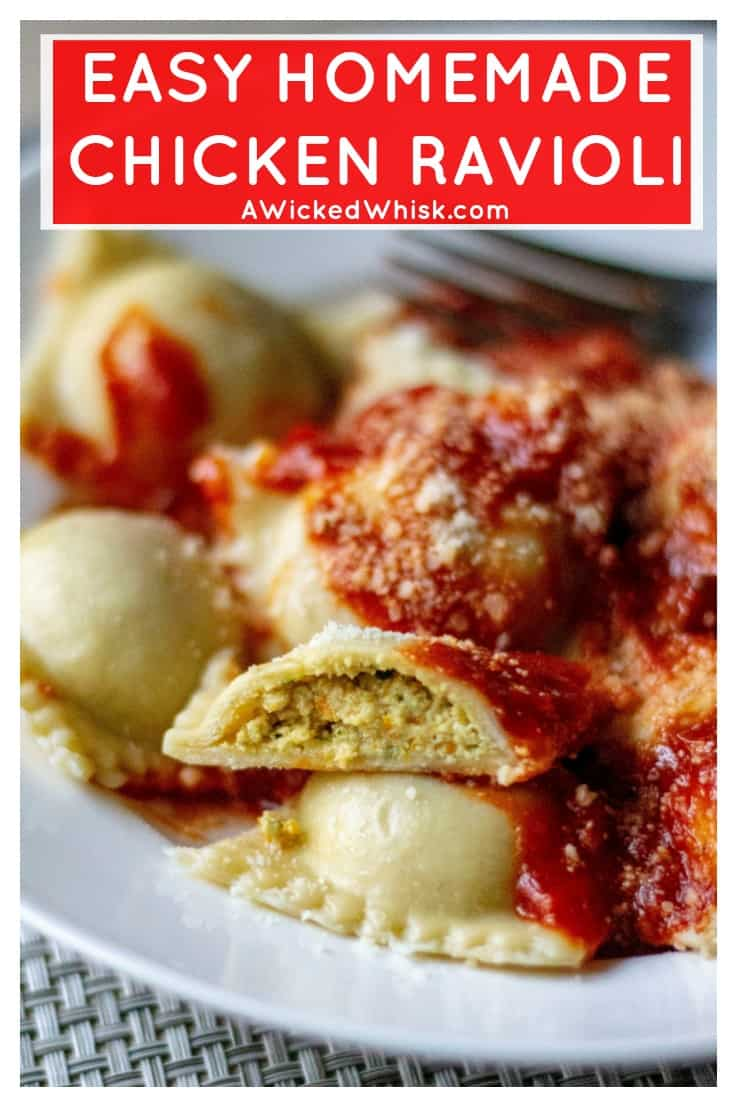 This Homemade Chicken Ravioli Recipe is an easy ravioli recipe made with ground chicken, a few simple pantry ingredients and tons of fresh produce. Easier to make than you might think, thisHomemade Chicken Ravioli Recipe is the perfect chicken dinner to serve up this week. #ravioli #chickenravioli #homemaderavioli #homemadechickenravioli #easypastadinner #easyraviolirecipe #homemadechickenraviolirecipe #homemadepasta