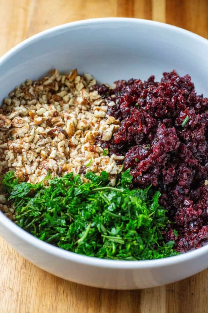 Orange Cranberry Pecan Goat Cheese topping mixture