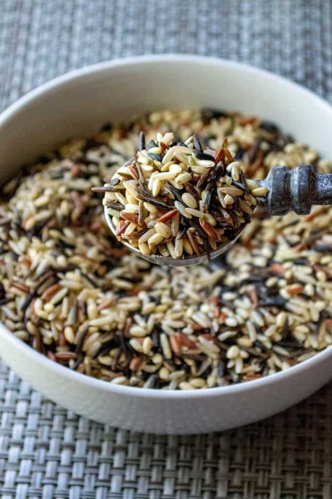 Slow Cooker Cranberry Apple Pecan Wild Rice Pilaf wild rice