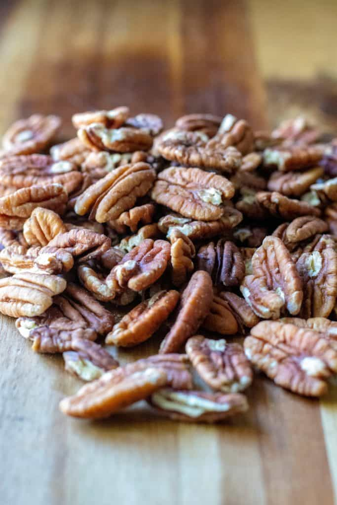 Cinnamon Sugar Candied Pecans nuts