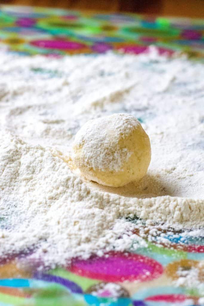 Copycat Lofthouse Sugar Cookies dough ball