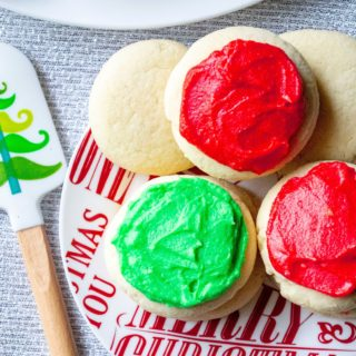 Copycat Lofthouse Sugar Cookies frosted