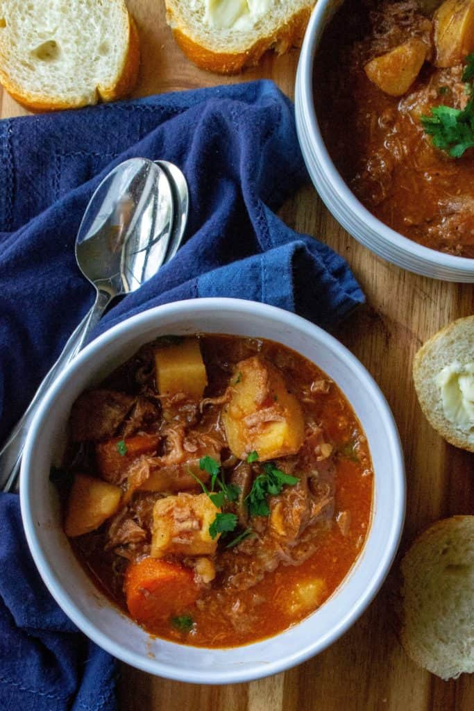 Easy Slow Cooker Beef Stew in a bowl