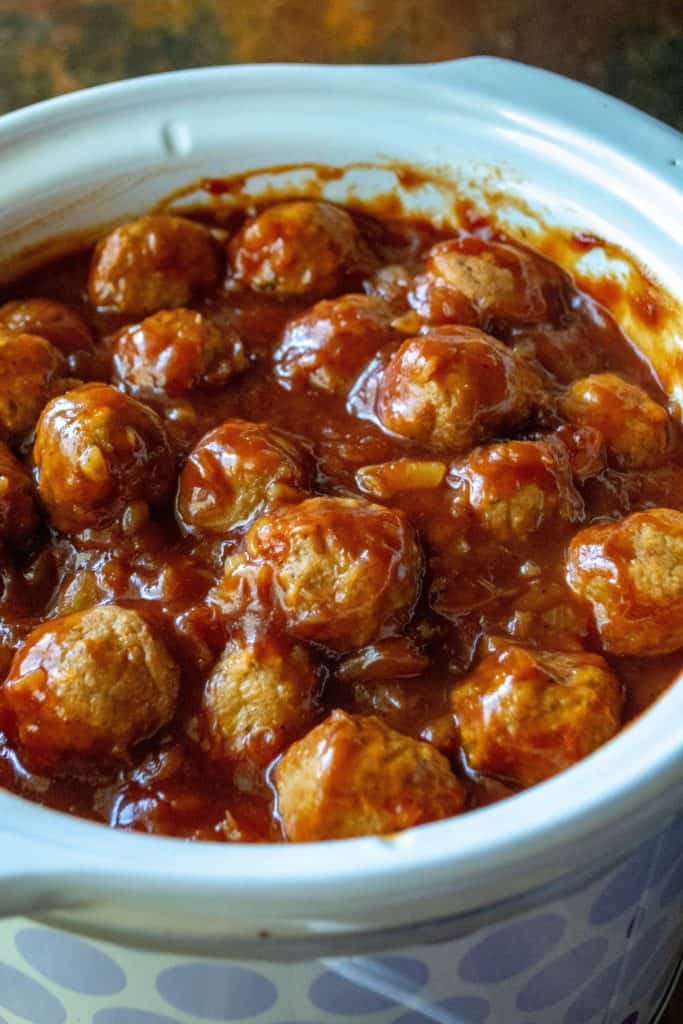 Slow Cooker Spicy Hawaiian Meatballs