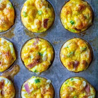 Breakfast Egg Muffins are the perfect low-carb Keto breakfast muffins to start your day.  Easy to make, freezer friendly and completely customizable, these healthy egg muffin cup are the best Keto breakfast recipe to start your day.