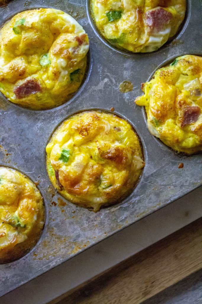 Breakfast Egg Muffins in a tin